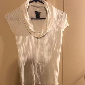 White short sleeve sweater